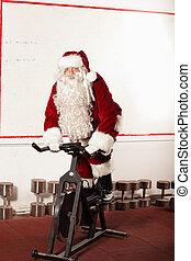 fiets, opleiding, claus, kerstman