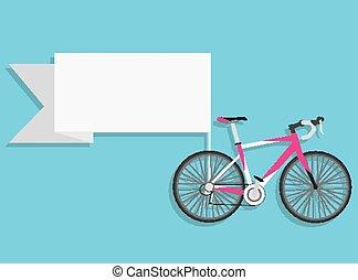 fiets, ouderwetse , vector, ontwerp