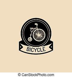 fiets, ouderwetse , velocipede, voorbeelden, vector,...
