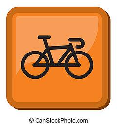 fiets, pictogram, fiets, -