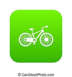 fiets, pictogram, groene, digitale