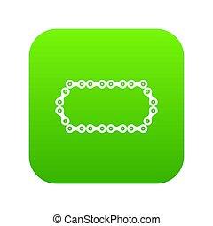 fiets, pictogram, groene, ketting, digitale