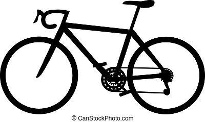 fiets snelend