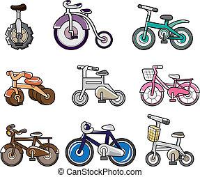 fiets, spotprent