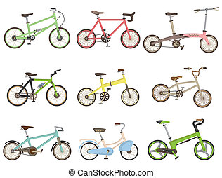 fiets, spotprent, pictogram