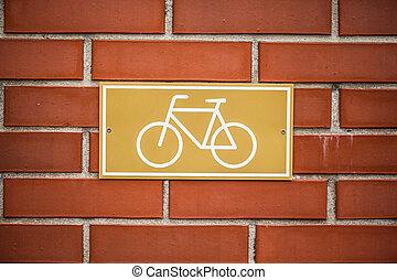 fiets steeg, meldingsbord, het indiceren, fietsroute