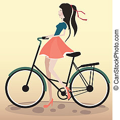 fiets te rijden, meisje