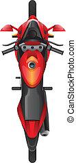 fiets, topview, motor