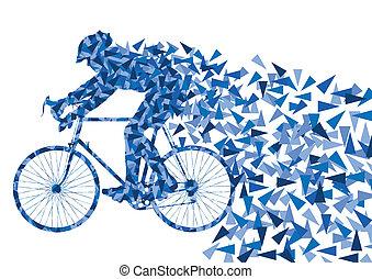 fiets, vector, achtergrond