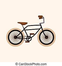 fiets, vector, ontwerp, spotprent, communie