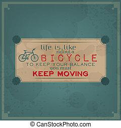 fiets, verhuizing, jouw, bewaren