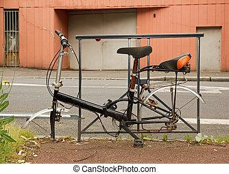 fiets, verlaten, straat