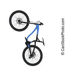 fiets, vrijstaand, op wit, achtergrond