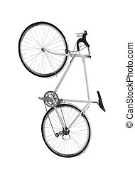 fiets, vrijstaand, op wit