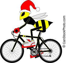 fiets, wesp