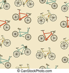 fietsen, seamless, pattern.
