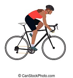 fietsende , man