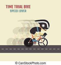 fietser, hipster