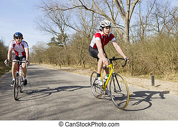 fietser, inhalen