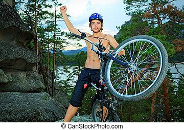 fietser, man