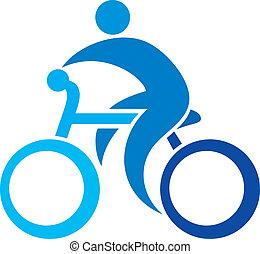 fietser, pictogram