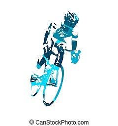 fietser, vector, illustratie
