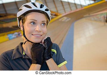 fietser, velodrome