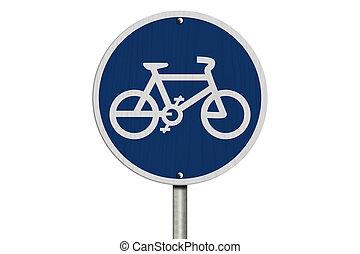 fietsroute, meldingsbord