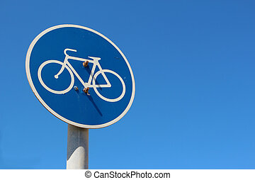 fietsroute, verkeersbord