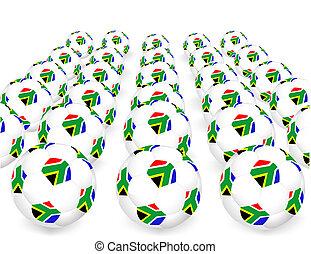 fifa, balles, tasse, afrique, mondiale, 2010, sud
