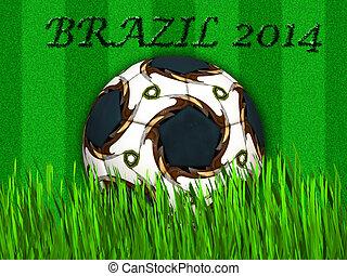 fifa, campeonato do mundo, -, brasil, 2014, bola futebol