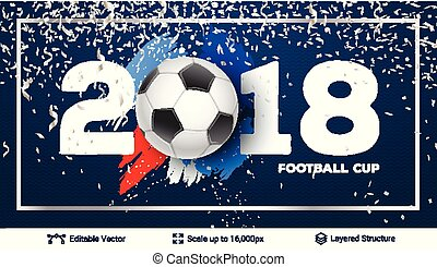 FIFA World Cup 2018 Banner Concept. - Ad text and soccer...