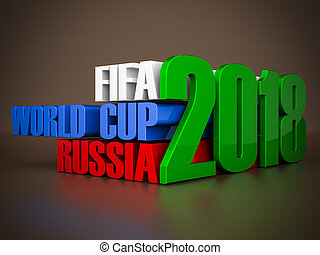 fifa world cup 2018 in Russia on a beautiful chocolate background