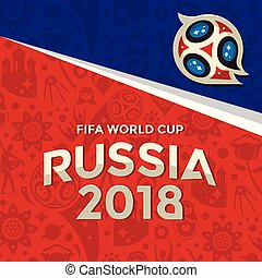Fifa World Cup Russia 2018 Background Vector Image
