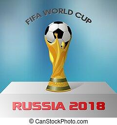 FIFA World Cup Russia 2018 . Vector illustration