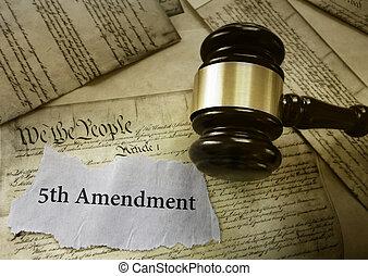 Fifith Amendment news gavel - Fifth Amendment news headline...