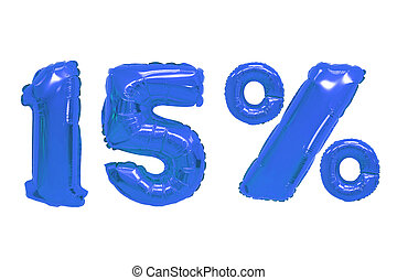 fifteen percent from balloons dark blue color