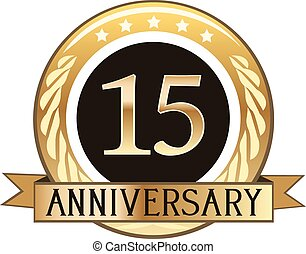 Fifteen Year Anniversary Badge