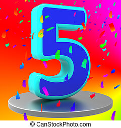 Fifth Anniversary Means Birthday Party And 5Th - Fifth...