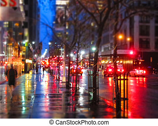Fifth Ave Abstract - An abstract blur taken on Fifth Ave in...