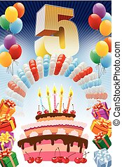 Fifth birthday poster