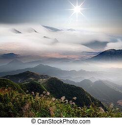 Fifth Mountain Sunrise, the new Taipei, Taiwan for adv or ...