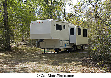 fifth wheel camper - fifth wheel style camper with slide out...