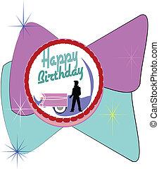 fifties birthday cake