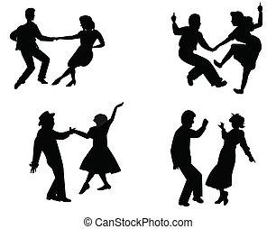 fifties, dançarinos