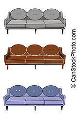 fifties style couch