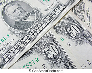 Fifty american dollars - Photo of the old fifty american...