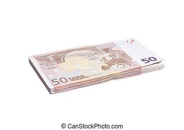 Fifty euro pile