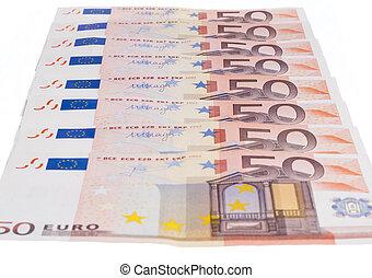 Fifty euro row