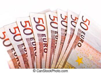 Fifty Euros Pile